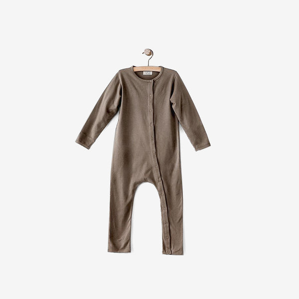 The Perfect Pajama Organic Cotton Long John - Walnut