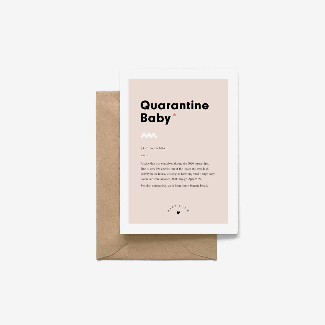 New Baby Gift Card - Quarantine Baby Definition