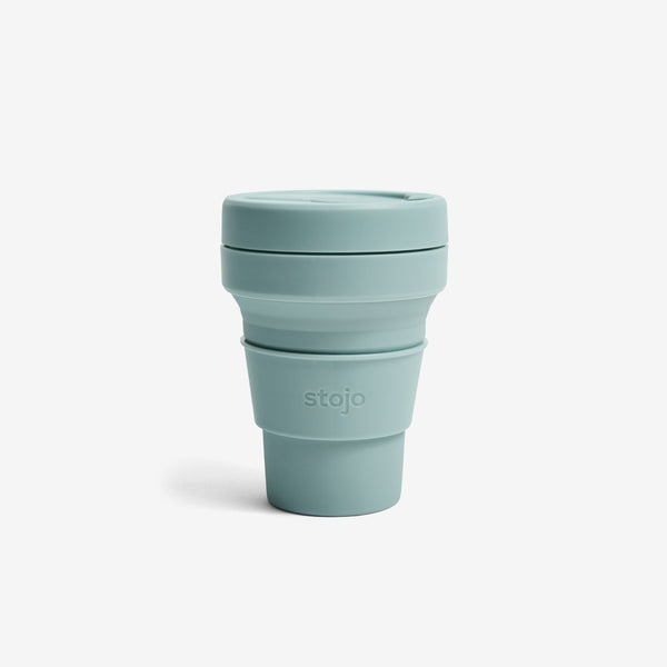 Silicone Collapsible 12oz Pocket Cup - Aquamarine