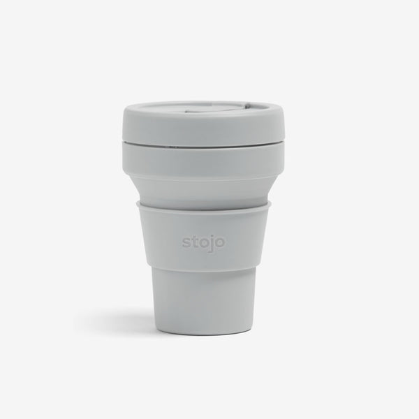 Silicone Collapsible 12oz Pocket Cup - Cashmere