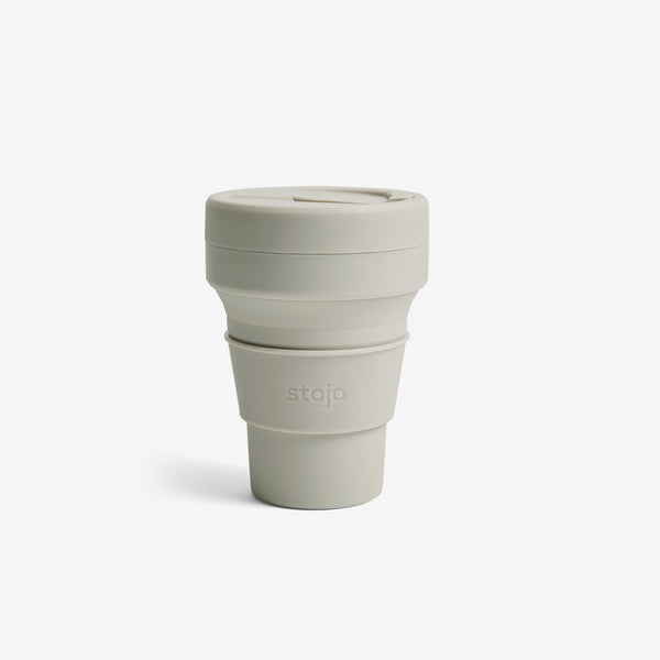 Silicone Collapsible 12oz Pocket Cup - Oat