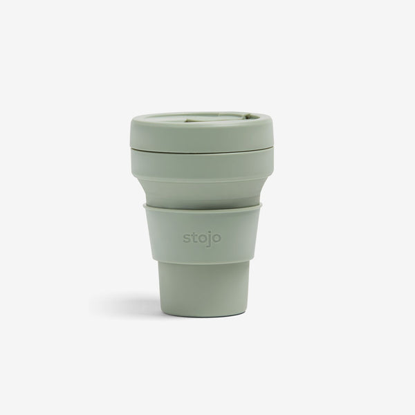 Silicone Collapsible 12oz Pocket Cup - Sage