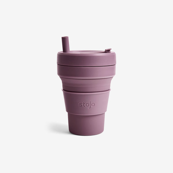 Silicone Collapsible 16oz Biggie Cup - Plum
