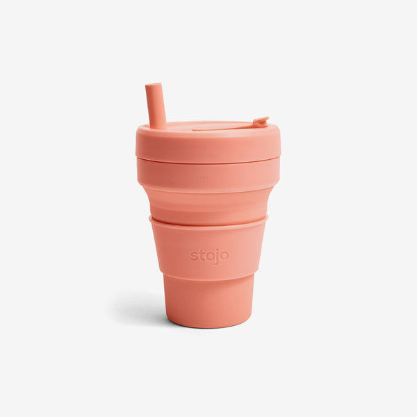 Silicone Collapsible 16oz Biggie Cup - Apricot