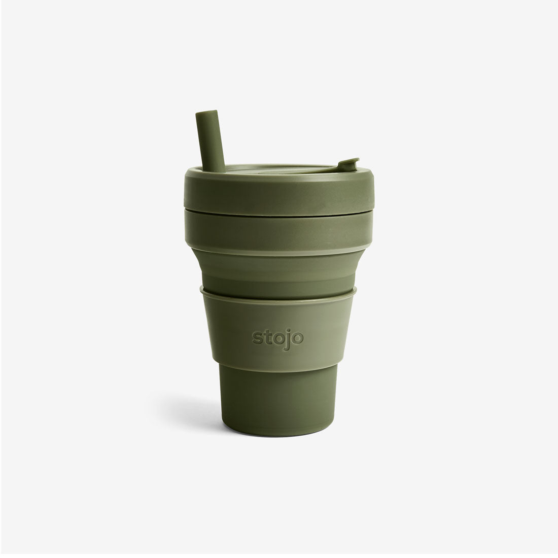 Silicone Collapsible 16oz Biggie Cup - Moss