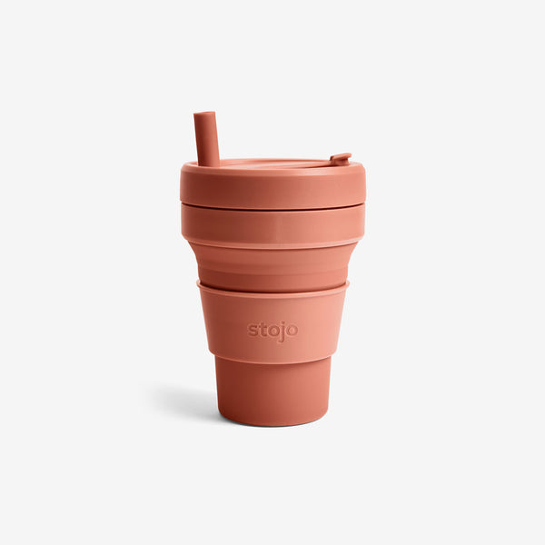 Silicone Collapsible 16oz Biggie Cup - Nutmeg