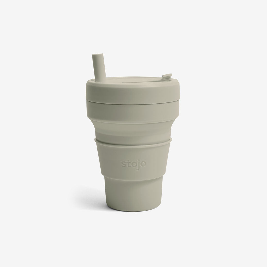 Silicone Collapsible 16oz Biggie Cup - Oat