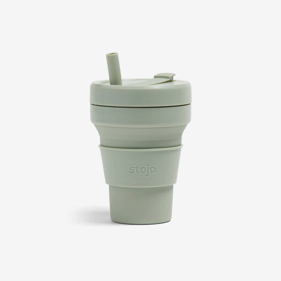 Silicone Collapsible 16oz Biggie Cup - Sage