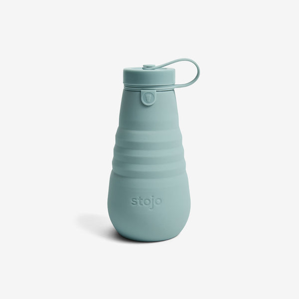 Silicone Collapsible 20oz Bottle - Aquamarine