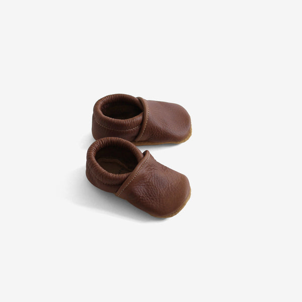 Beau Leather Baby Mocc - Brown