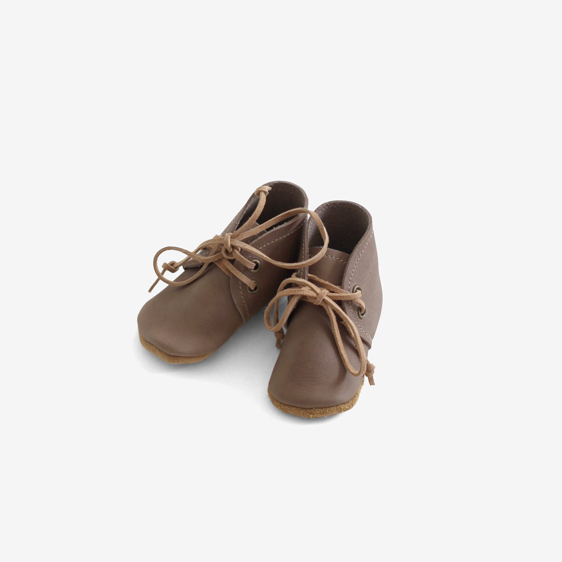 Soft-sole Leather Desert Baby Boots - Taupe