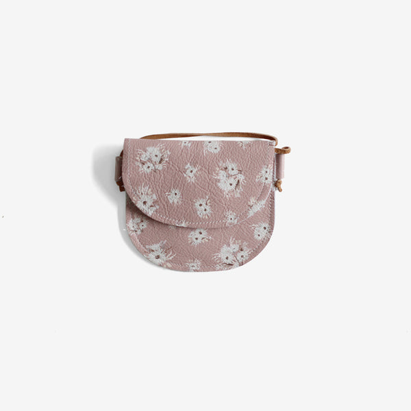 Little Leather Purse - Mauve Floral