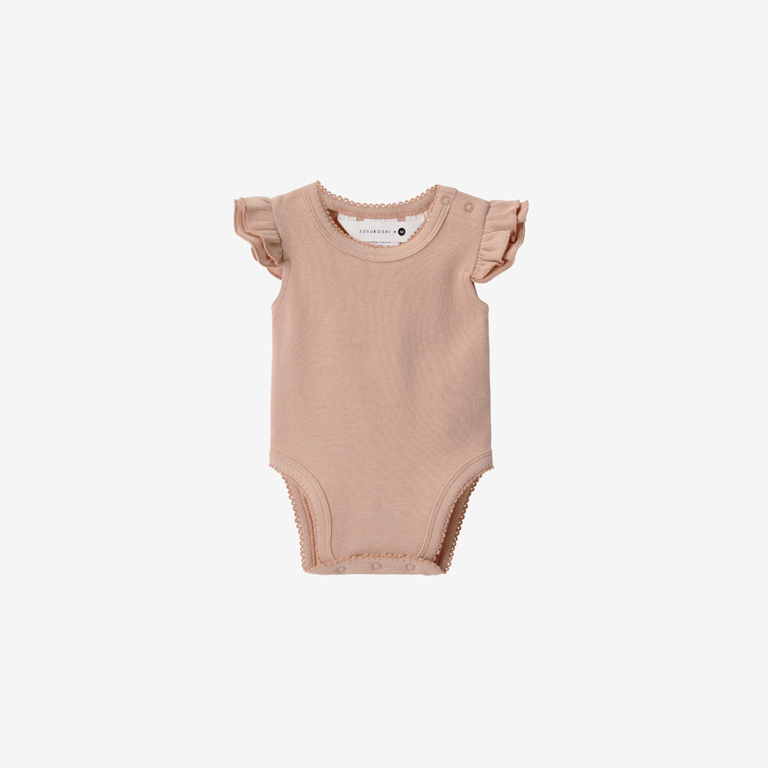 Organic Cotton Flutter Bodysuit - Tan
