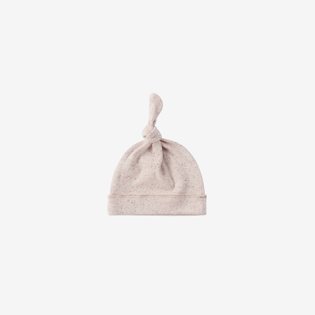 Organic Cotton Knotted Baby Hat - Beige Speckled