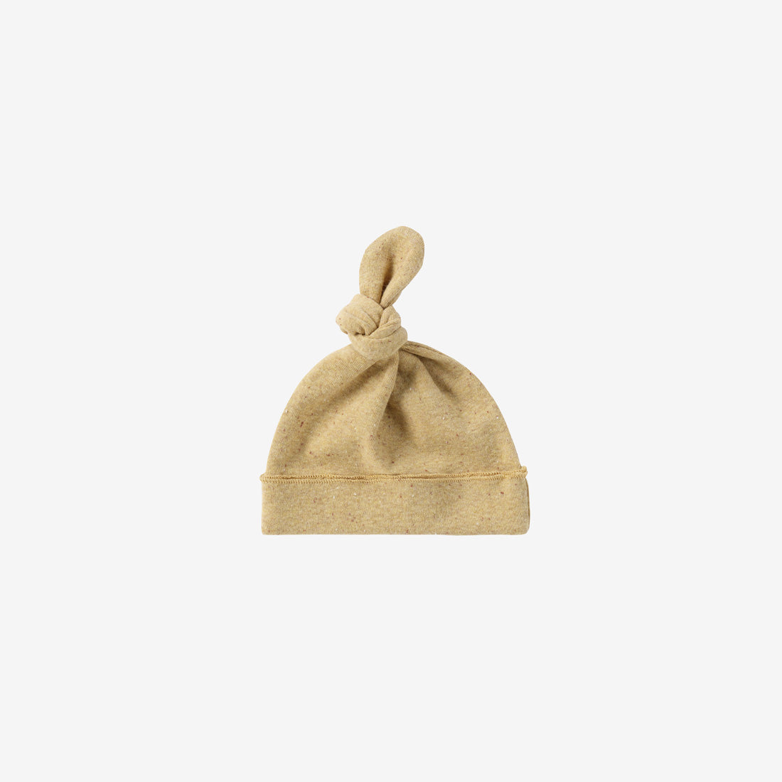 Organic Cotton Knotted Baby Hat - Ginger Speckled