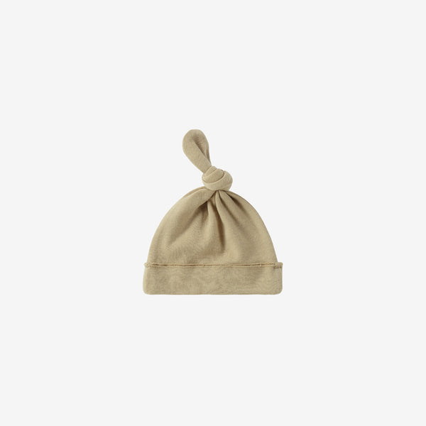 Organic Cotton Knotted Baby Hat - Milk Tea