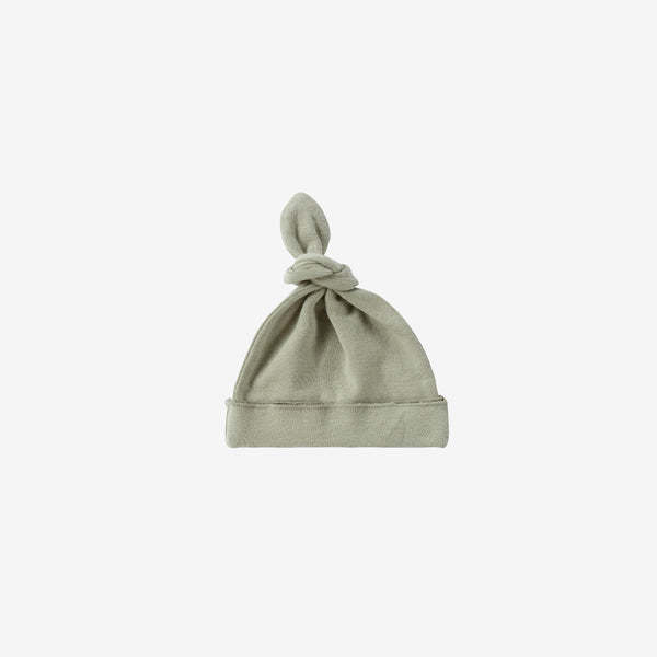 Organic Cotton Knotted Baby Hat - Sage