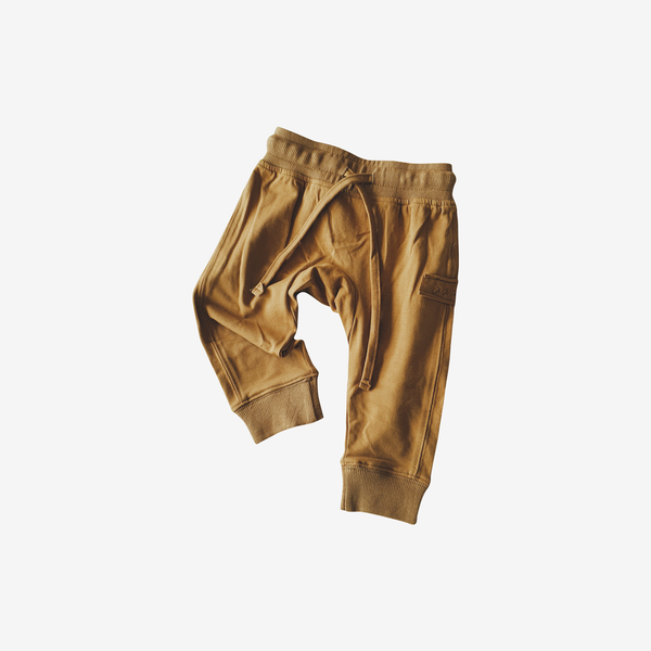 Organic Cotton Jogger - Antique Brass
