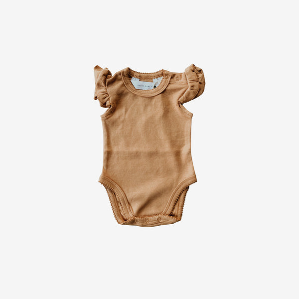 Organic Cotton Flutter Bodysuit - Sunkissed