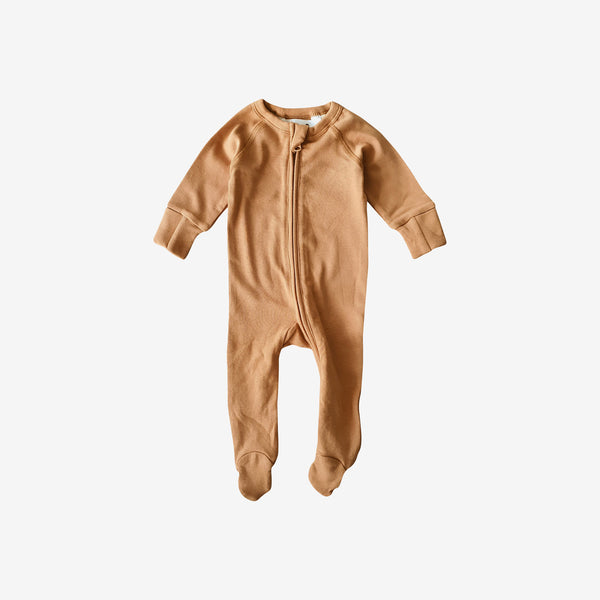 Organic Cotton Footed Zip Growsuit - Sunkissed