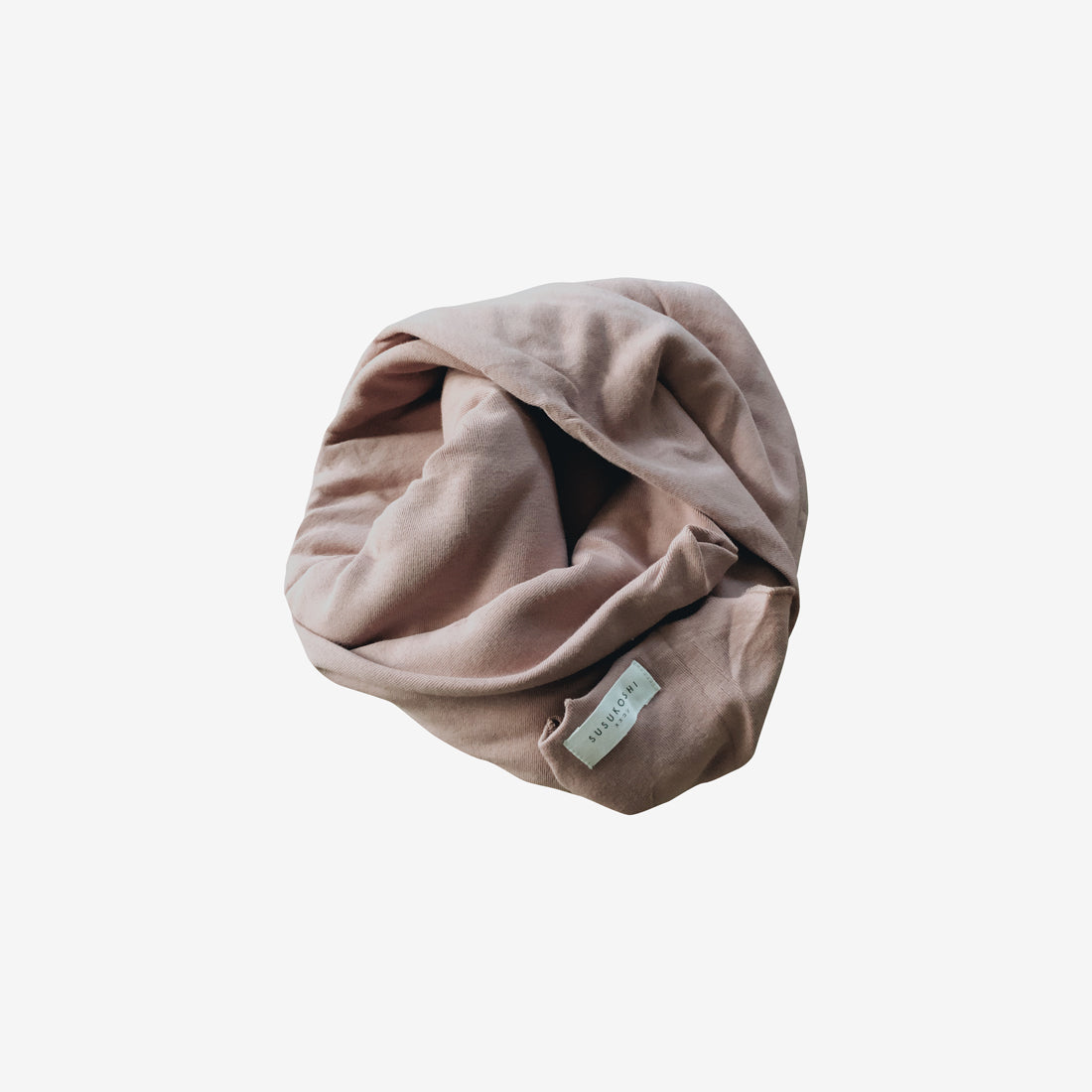 Organic Cotton Jersey Swaddle Blanket - Mauve