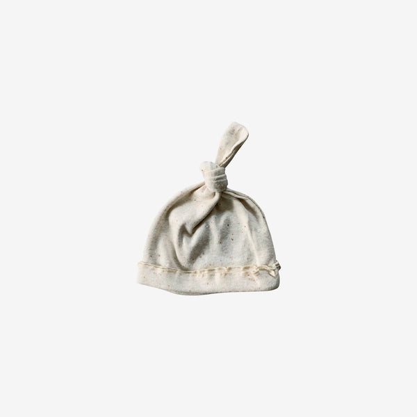 Organic Cotton Knotted Baby Hat - Cotton Speckled