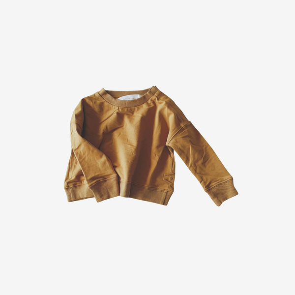 Organic Cotton Boxy Pullover - Antique Brass