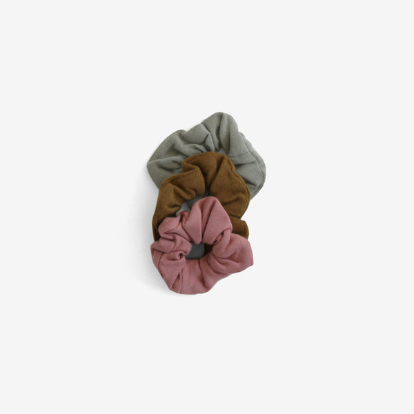 Organic Cotton Jersey Scrunchies S3 - Assorted