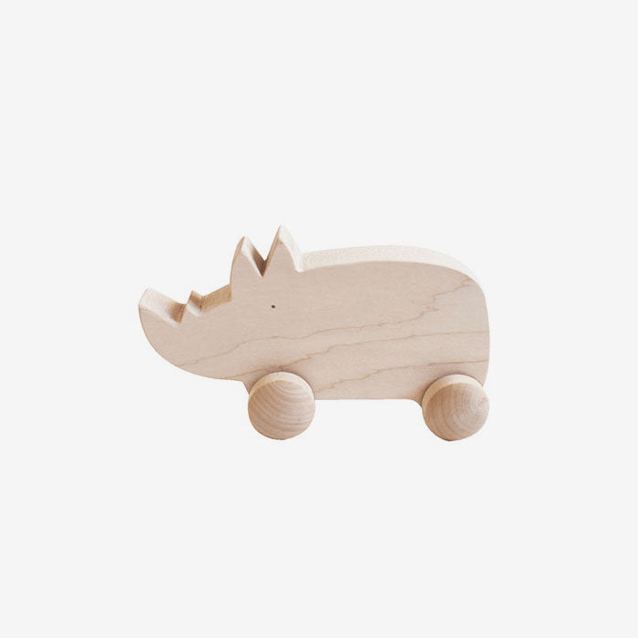 Hardwood Maple Roller Toy - Rhino