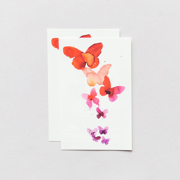 Temporary Tattoo Pairs - Coral Butterflies