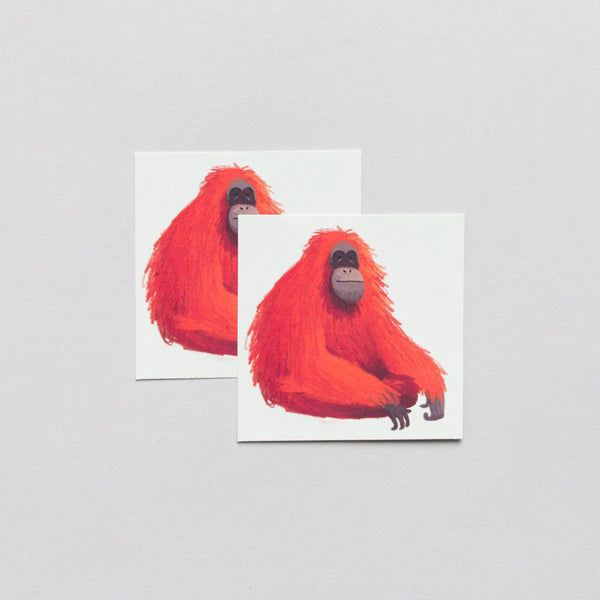 Temporary Tattoo Pairs - Orangutan