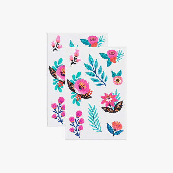 Temporary Tattoo Sheets - Flower Garden