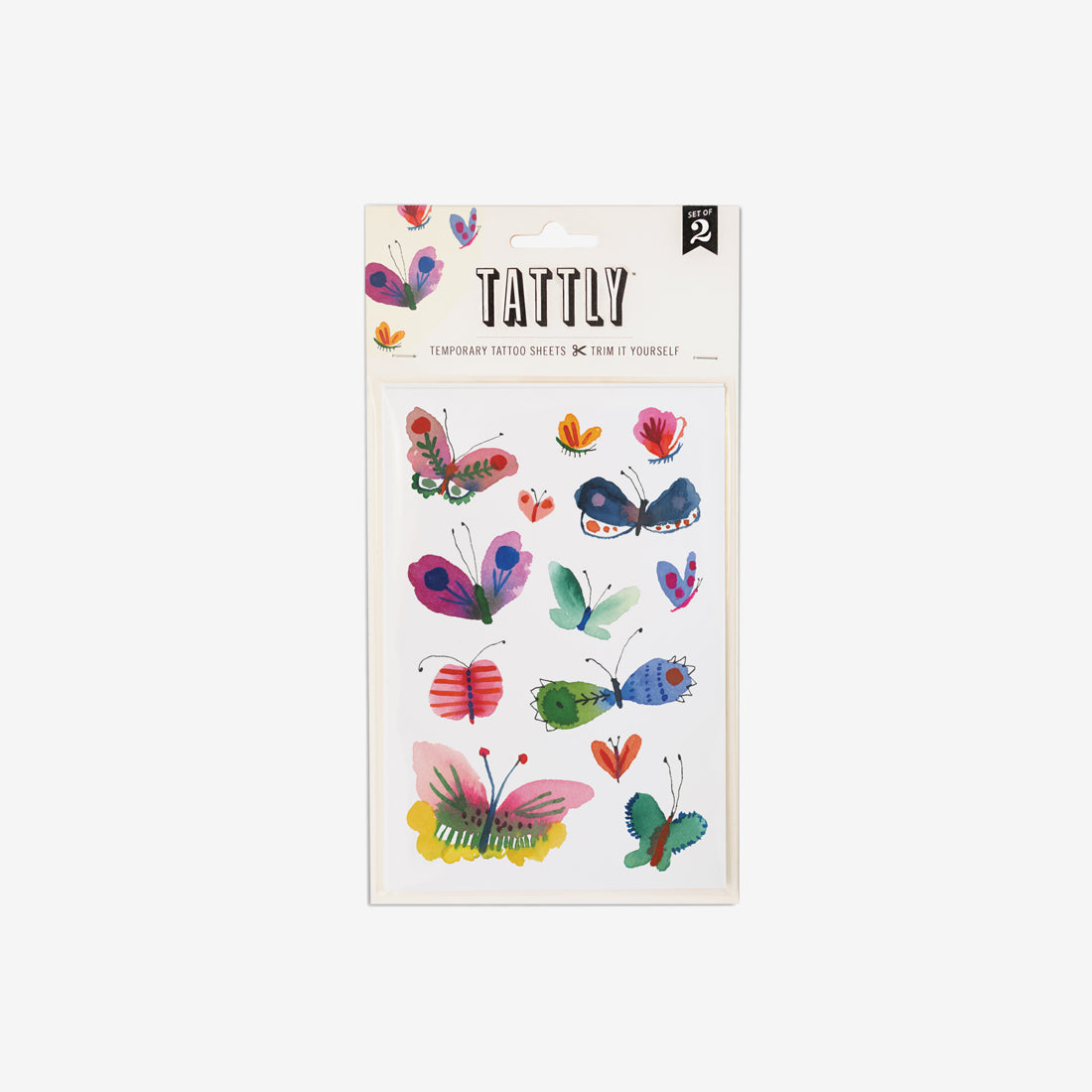 Temporary Tattoo Sheets - Butterfly Frenzy