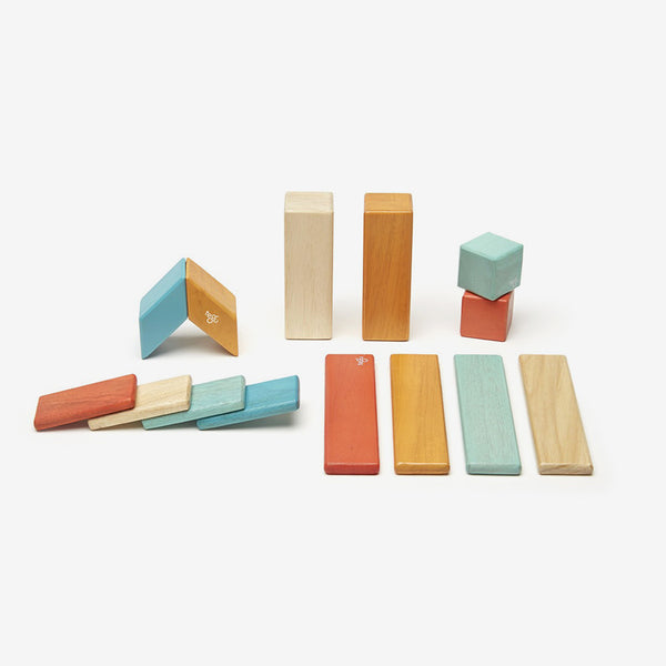 Magnetic Building Blocks - 14 Piece Set - Sunset