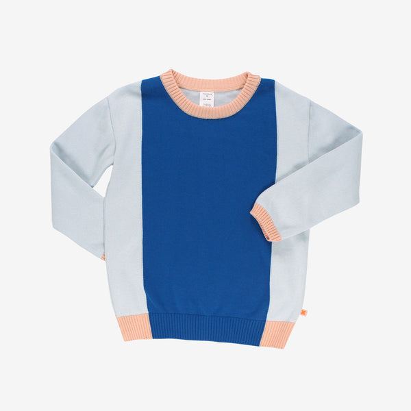 Colorblock Sweater - blues