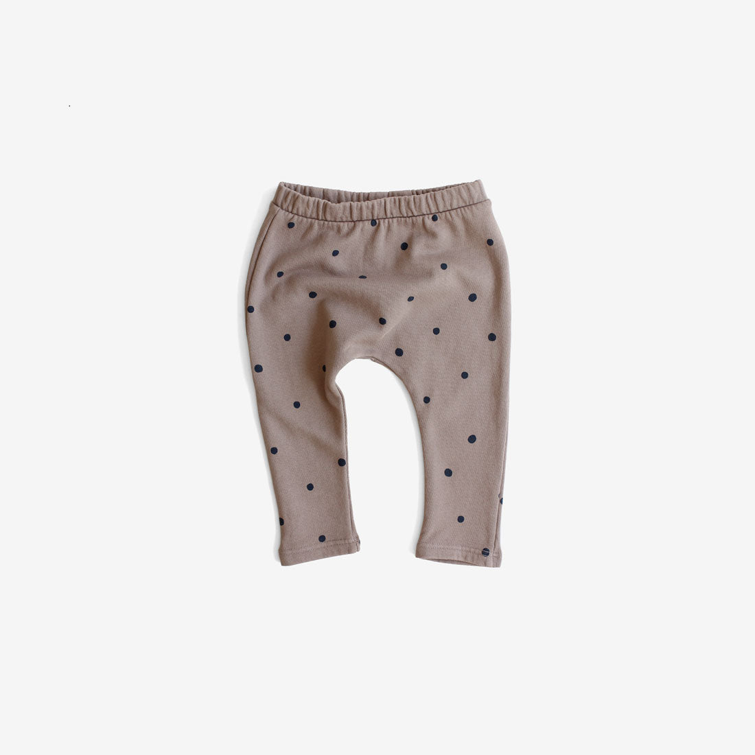Polka Dot French Terry Baby Sweats - Taupe