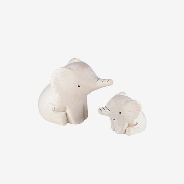 Polepole Wooden Animal Families - Elephants