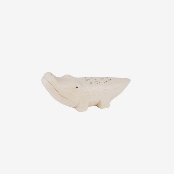 Polepole Miniature Wooden Animals - Crocodile
