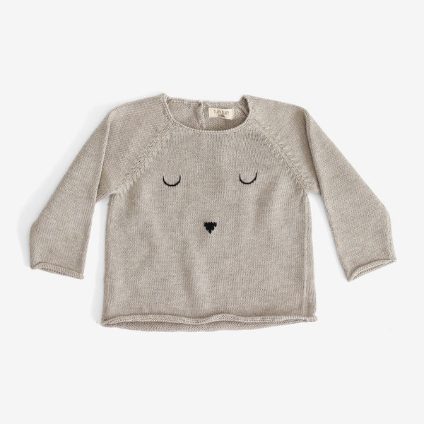 Pima Bunny Face Sweater - Taupe