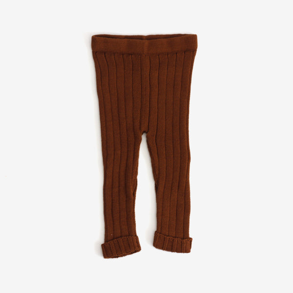 Pima Rib Knit Legging - Bronze