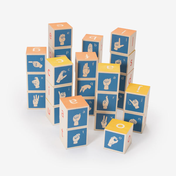 Sign Language Alphabet Blocks Bitte