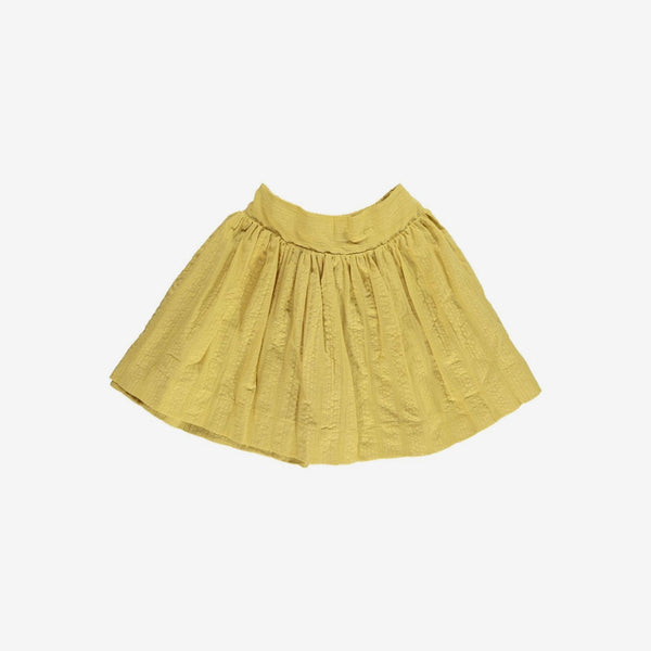 Rae Seersucker Twirl Skirt - Honeycomb
