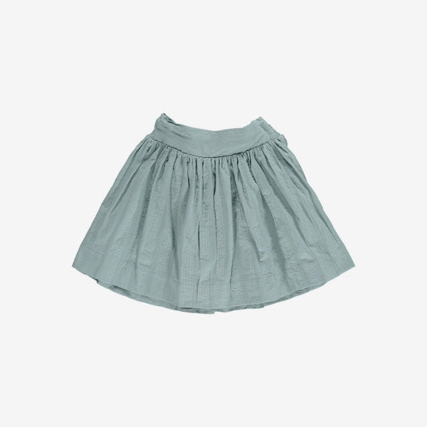 Rae Seersucker Twirl Skirt - Teal