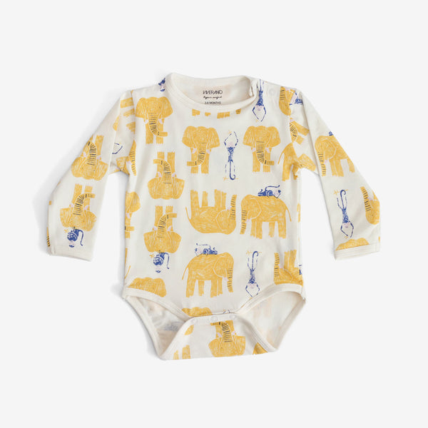 Jaipur Organic Jungle-print Onesie - Yellow