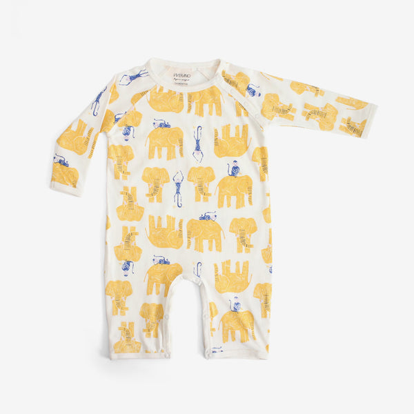 Jaipur Organic Jungle-print Jumpsuit - Yellow