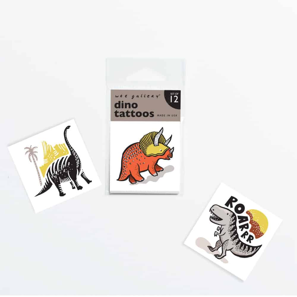 Temporary Tattoos - Set of 12 Dinos
