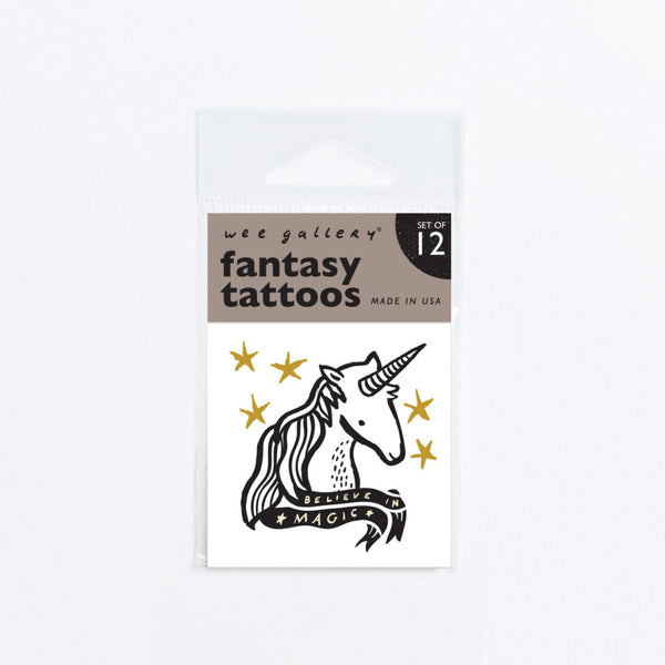 Temporary Tattoos - Set of 12 Fantasy