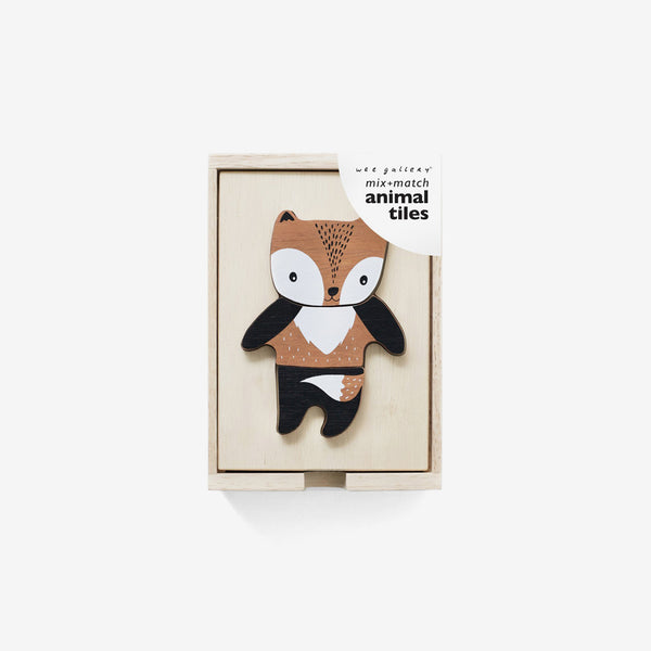 Mix & Match Wooden Animal Tiles