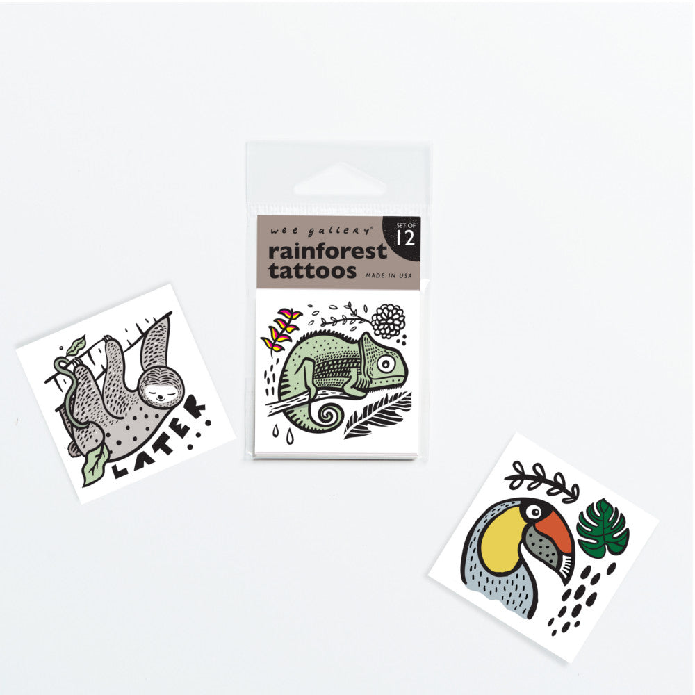 Temporary Tattoos - Set of 12 Rainforest