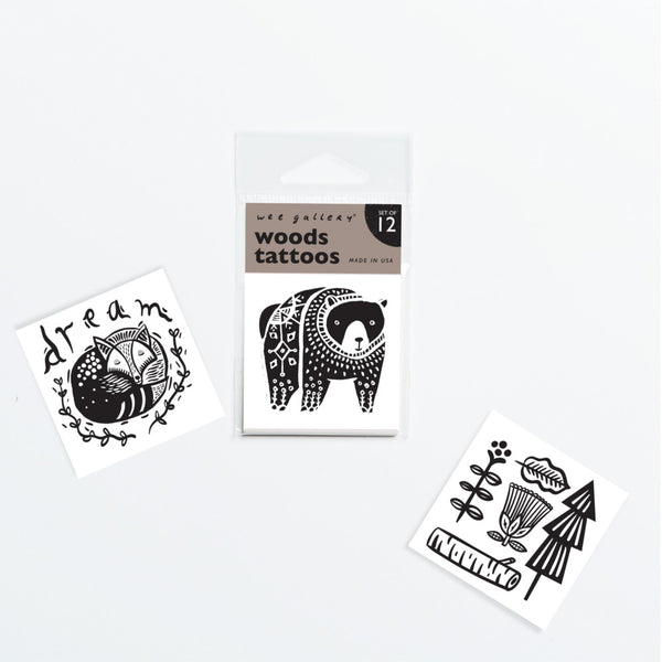 Temporary Tattoos - Set of 12 Woods